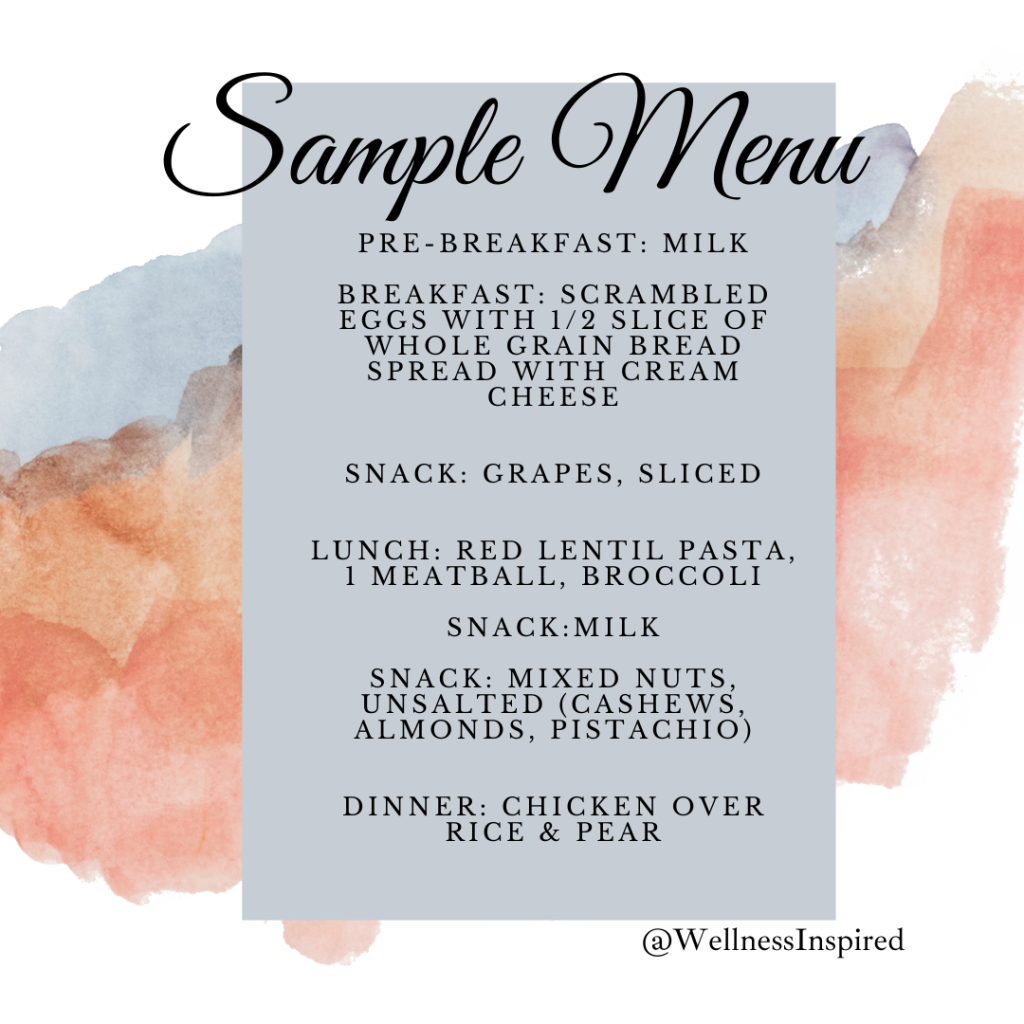 Sample Children Menu